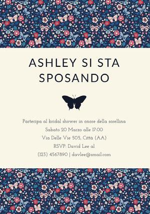 butterfly wedding invitations  Invito per bridal shower