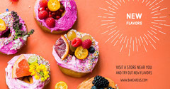 Orange With Fresh Cookies Store Flyer Donut