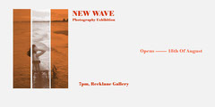 Orange Photography Exhibition Eventbrite Cover with Woman on Chair Exhibition