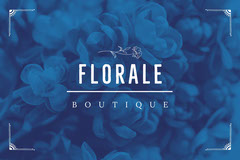 Blue Floral Clothing Tag Template Flowers