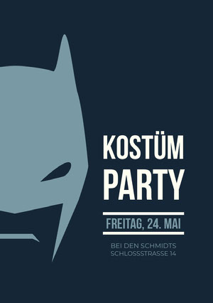 Kostüm<BR>Party Einladung zur Party