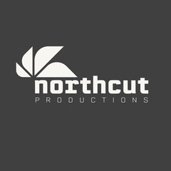 White and Grey Northcut Productions Logo Square Designer