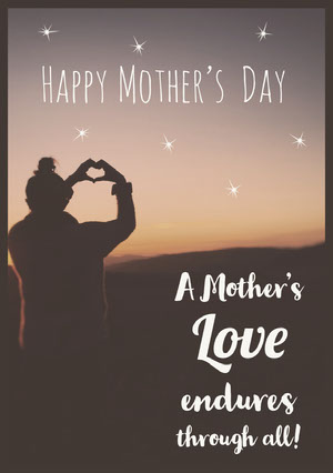 Light and Grey, Mothers Day Wishes Card  Mother's Day Messages