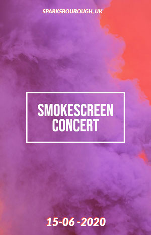 SMOKESCREEN CONCERT 콘서트 포스터