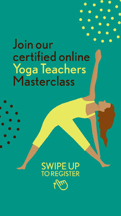Green Yoga Teachers Masterclass Instagram Story Teacher