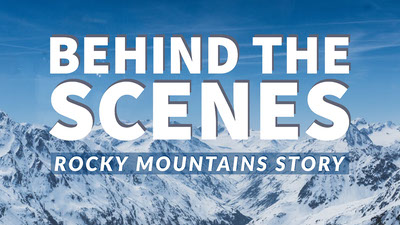 Blue and White Rocky Mountains Story Banner Tumblr Banner
