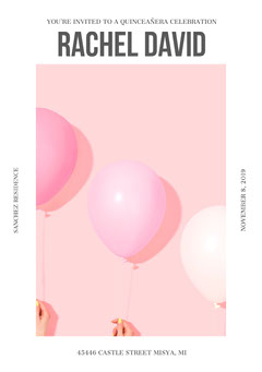 White and Pink Birthday Card Balloon