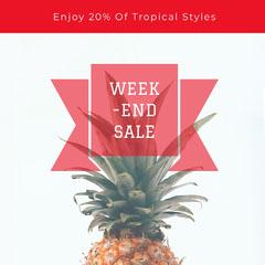 WEEK<BR>-END <BR>SALE Sale Flyer