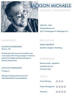 Blue Account Coordinator Resume Marketing