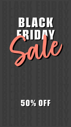 Black White and Red Black Friday Sale Promo Instagram Story Thanksgiving Sale
