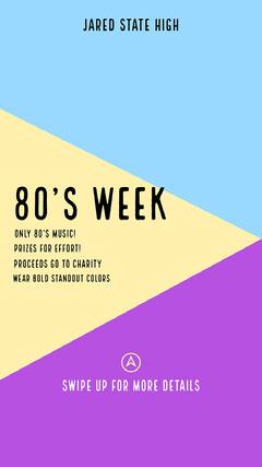 Colorblock 80's week Instagram Story College