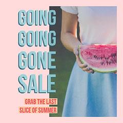 Pastel Color Pink and Blue Summer Sale Instagram Post  Summer