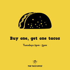Black and Yellow Taco Offer Instagram Square  Deal