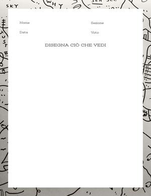 drawing worksheet  Foglio di lavoro