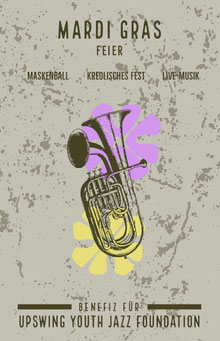 mardis gras celebration event poster  Poster