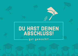 you're graduating congratulations cards  Glückwunschkarte
