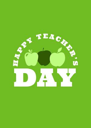 Green Online Teacher's Day Card Online Teacher's Day Card