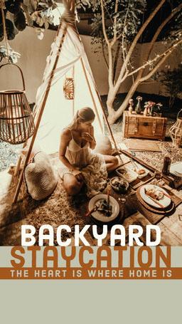 Brown backyard Staycation IG Story