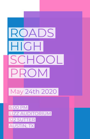 ROADS <BR>HIGH SCHOOL <BR>PROM  Prom Posters