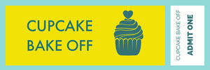Cupcake Bake off Ticket