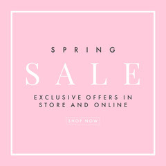 pink spring sale igsquare  Promotion