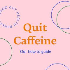 Pink Quit Caffeine Instagram Square  Health Poster