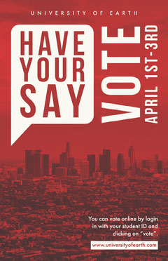 Have Your Say Campaign Poster Voting