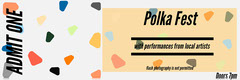 Colorful Polka Music Concert Ticket Concert Ticket