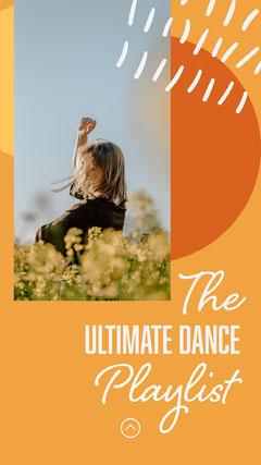 Orange Dance Playlist Instagram Story story Dance Flyer