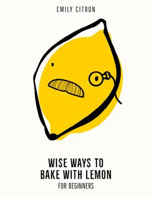 Yellow Lemon Baking Cook Book Cover portada de libro de cocina