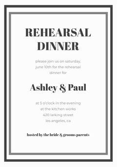 Gray Elegant Rehearsal Dinner Invitation Card Lifestyle