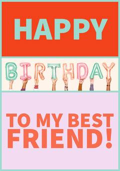 Happy Birthday Card for Best Friend Friends