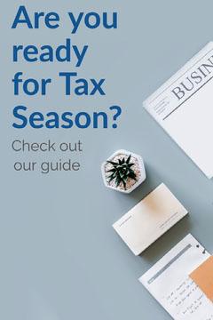 Blue Tax Season Pinterest Finance