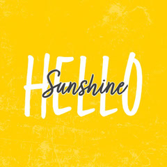Yellow and Black Hello Sunshine Instagram Square Family