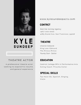 White and Grey Professional Resume CV professionnel