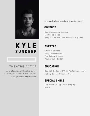 Best Free Acting Resume Templates and Ideas | Adobe Spark