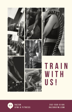 Gym Training Poster Fitness