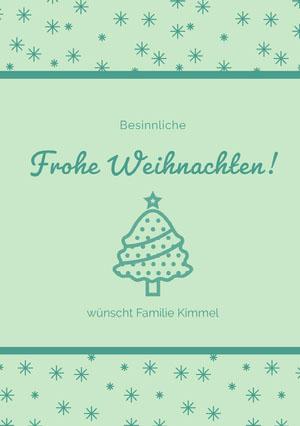 Frohe Weihnachten! Weihnachtskarte