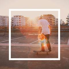 Bright Toned  Summer Skating Instagram Post Summer
