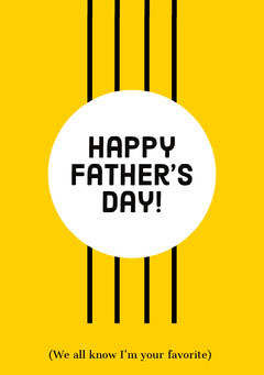 Happy Father's Day! Holiday