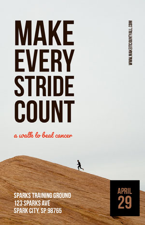 Make every stride count Póster de evento