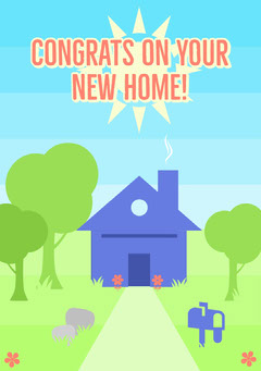 Congrats on your<BR>new home! Congratulation