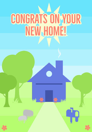 Congrats on your<BR>new home! Biglietto di congratulazioni