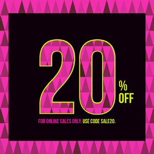 Pink Yellow and Black Coupon Code Square Instagram Graphic Coupon