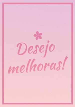 pink gradients get well soon cards Cartão de melhoras