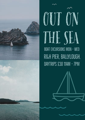 out on the sea excursions flyer Flyer