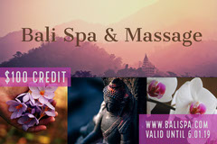 Colorful Gift Certificate  Spa