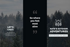 Black and White Outdoor Adventure Company Brochure Agency