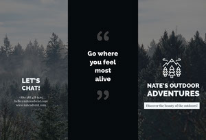 Nate's Outdoor Adventures  Brochure