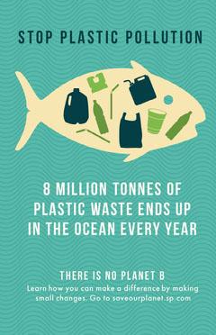 Ocean Pollution Planet Awareness Poster Ocean